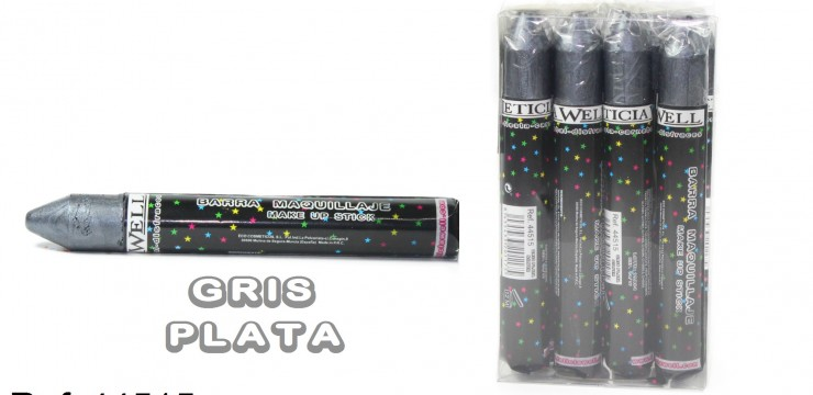 Barra Maquillaje Fiesta GRIS PLATA Ref. 44515