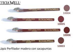 Lápiz Perfilador Labios Madera  con Sacapuntas Ref. 10004 10005 10006 10003