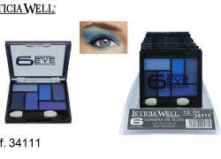 Sombra de Ojos 6 Colores Azules Ref. 34111