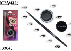 GEL Eye Liner Negro con pincel Ref. 33045