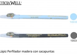 Lápiz Madera Ojos con Sacapuntas Ref. 10038 10035