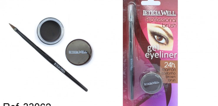 GEL Eye Liner MARRÓN con pincel Ref. 33062