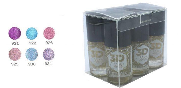 Laca de Uñas Alto Brillo 3D Glitter Ref 2150