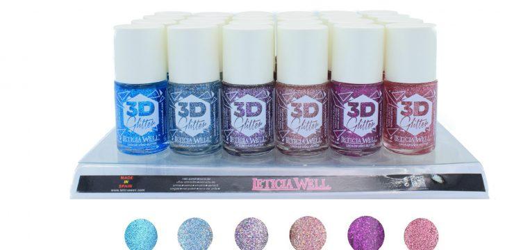 Laca de Uñas Alto Brillo 3D Glitter Ref 2152