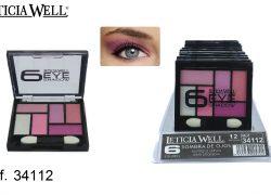 Sombra de Ojos 6 Colores Rosas Ref. 34112
