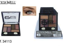 Sombra de Ojos 6 Colores Marrones Ref. 34113