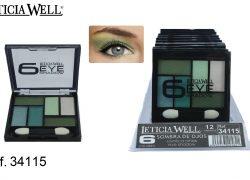 Sombra de Ojos 6 Colores Verdes Ref. 34115