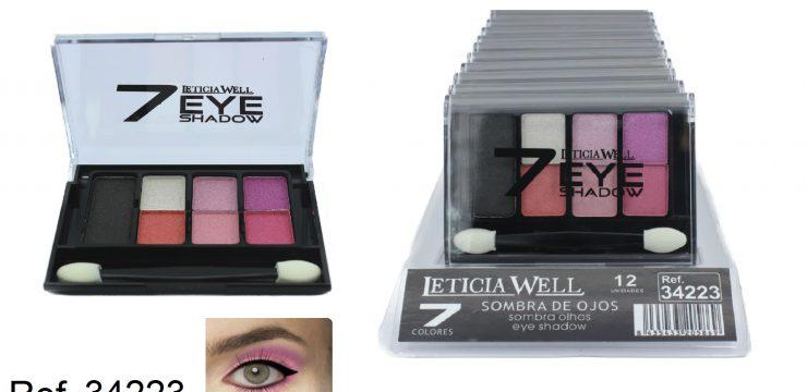 Sombra de Ojos 7 Colores Rosa Ref. 34223
