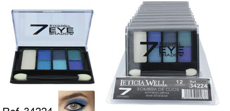 Sombra de Ojos 7 Colores Azul Ref. 34224