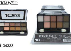 Sombra de Ojos 10 Colores Marrones  Ref. 34333
