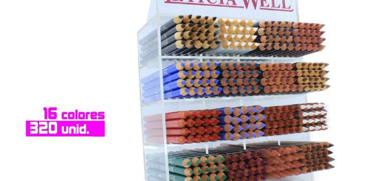 Expositor 16 colores Perfiladores Madera Ref. 50015