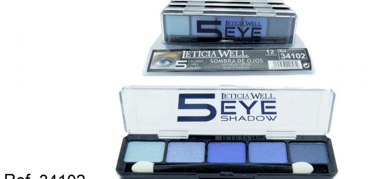 Sombra de Ojos 5 Colores Azules Ref. 34102
