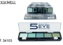 Sombra de Ojos 5 Colores Azules Ref. 34103