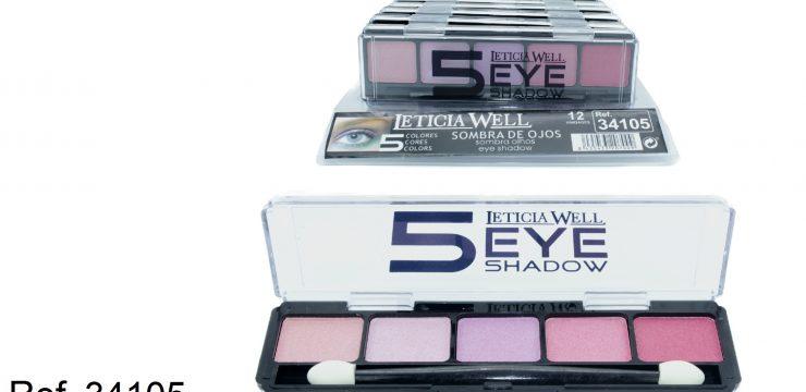 Sombra de Ojos 5 Colores Rosas Ref. 34105