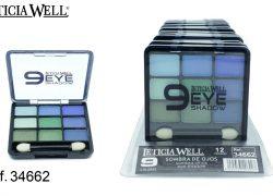 Sombra de Ojos 9 Colores Azul y Verde Ref. 34662