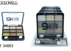 Sombra de Ojos 9 Colores Marrones Ref. 34663