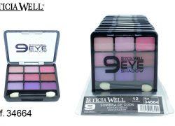 Sombra de Ojos 9 Colores Rosas Ref. 34664