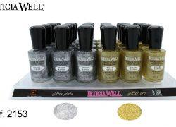 Laca de Uñas Alto Brillo Glitter Ref 2153
