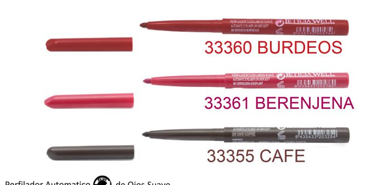 Lápiz de Ojos y Labios Automático  Ref. 33360 Ref. 33361 Ref. 33355