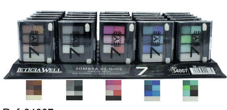 Expositor Sombra de Ojos 7 Colores Ref. 34007