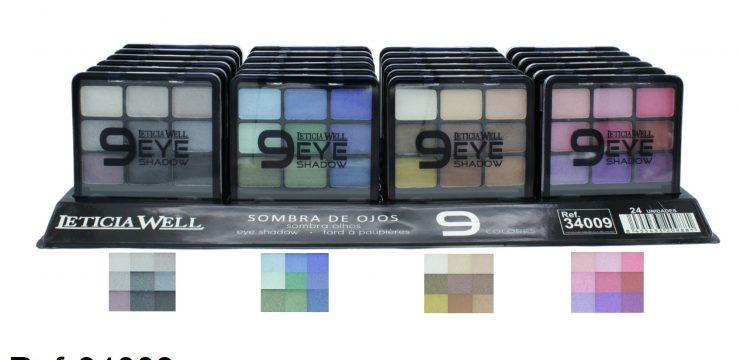 Expositor Sombra de Ojos 9 Colores Ref. 34009