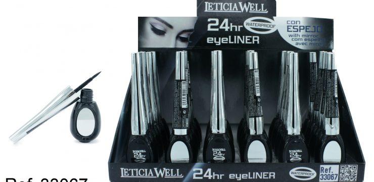 Eye Liner Negro Waterproof con espejo 24h.  Ref. 33067