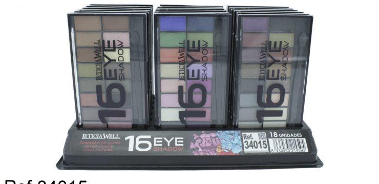 Ref. 34015 Sombra Ojos MATES/ BRILLO 16 colores