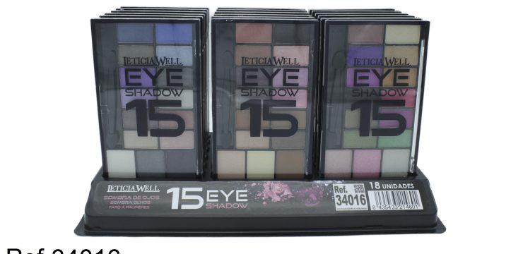 Ref. 34016 Sombra Ojos MATES/ BRILLO 15 colores